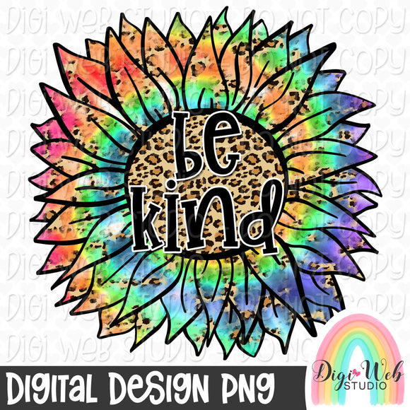Be Kind Sunflower 1 - Digital Sublimation Printable