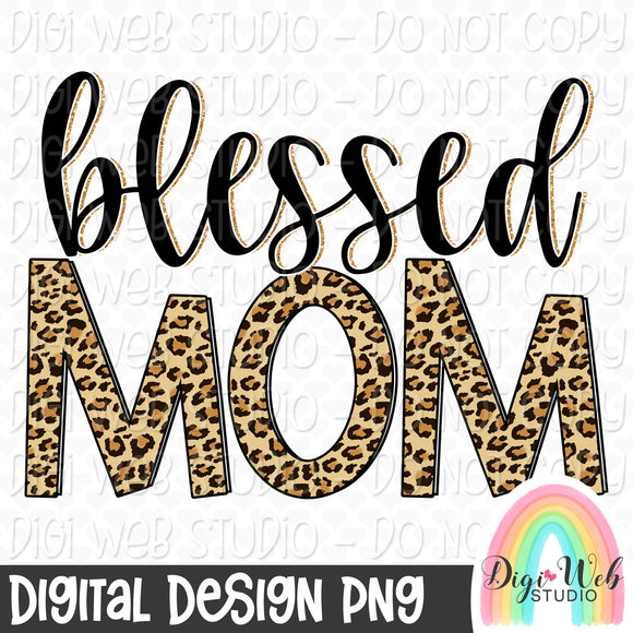 Blessed Mom 2 - Digital Sublimation Printable