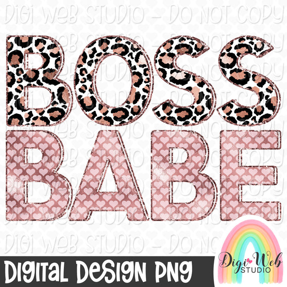 Boss Babe - Digital Sublimation Printable