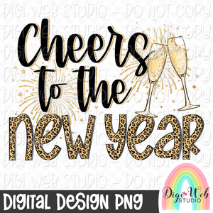 Cheers To The New Year - Digital Sublimation Printable