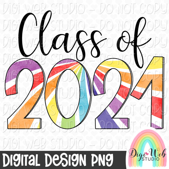 Class of 2021 - Digital Sublimation Printable