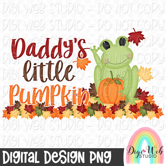 Daddy's Little Pumpkin - Fall Digital Sublimation Printable
