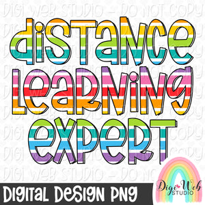 Distance Learning Expert - Digital Sublimation Printable