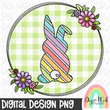 Easter Bunny Wreath - Digital Sublimation Printable