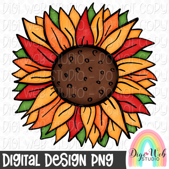 Fall Sunflower - Digital Sublimation Printable