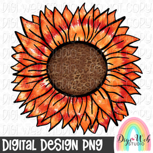Fall Tie Dye Sunflower - Digital Sublimation Printable