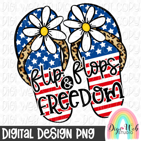 Flip Flops & Freedom 2 - Digital Sublimation Printable