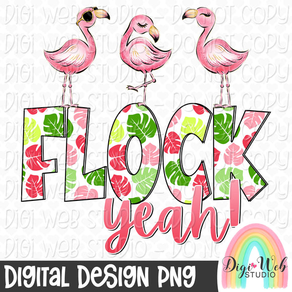 Flock Yeah! - Digital Sublimation Printable