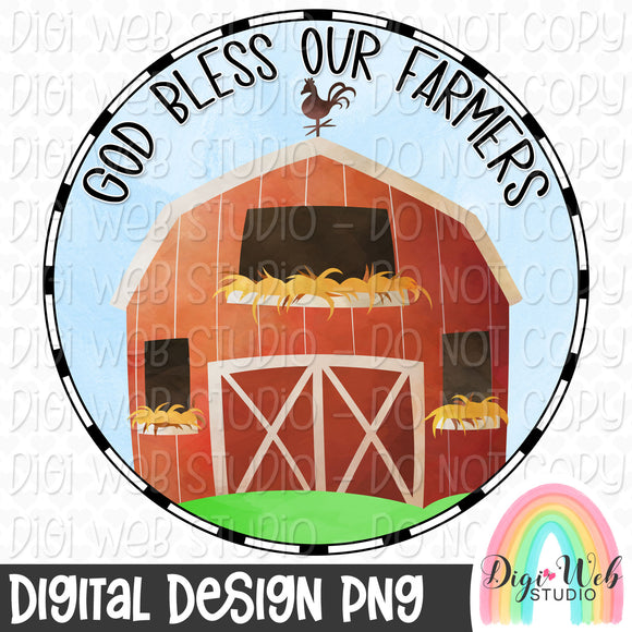God Bless Our Farmers - Digital Sublimation Printable