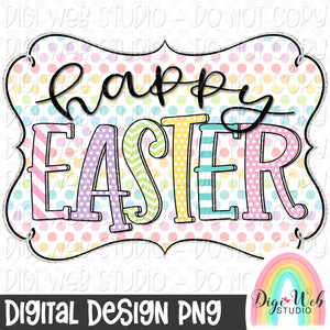 Happy Easter - Digital Sublimation Printable