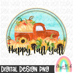 Happy Fall Y'all - Digital Sublimation Printable