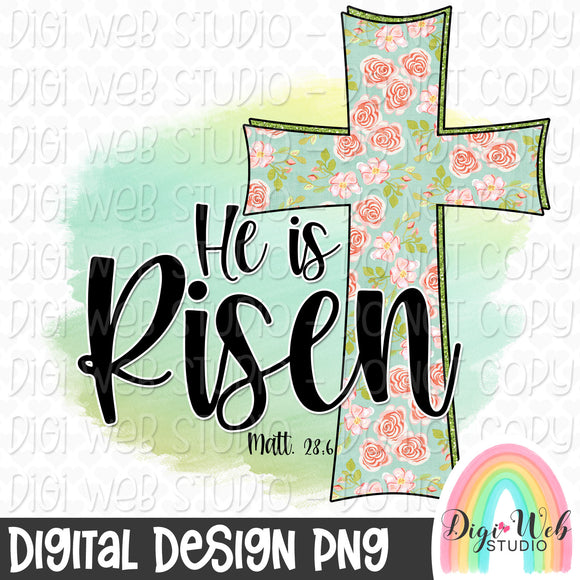 He Is Risen 2 - Digital Sublimation Printable
