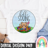 Hello Spring - Digital Sublimation Printable
