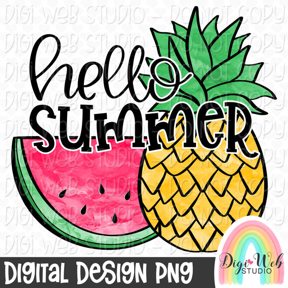 Hello Summer - Digital Sublimation Printable