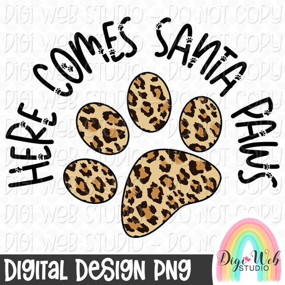Here Comes Santa Paws 2 - Digital Sublimation Printable