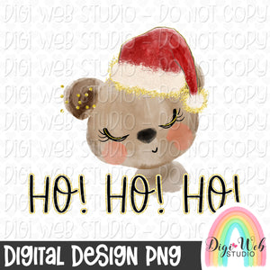 Ho Ho Ho Santa Bear - Digital Sublimation Printable