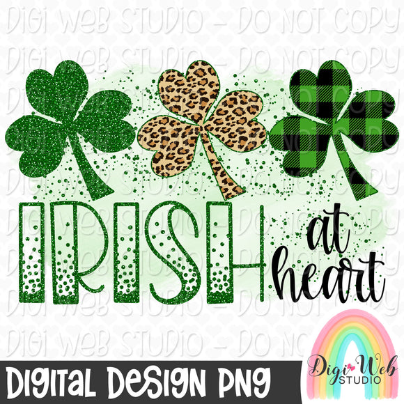Irish At Heart - Digital Sublimation Printable