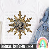 It's Winter Y'all Snowflake - Digital Sublimation Printable