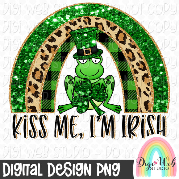 Kiss Me, I'm Irish Rainbow - Digital Sublimation Printable