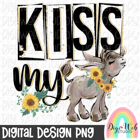 Kiss My Ass 2 - Digital Sublimation Printable