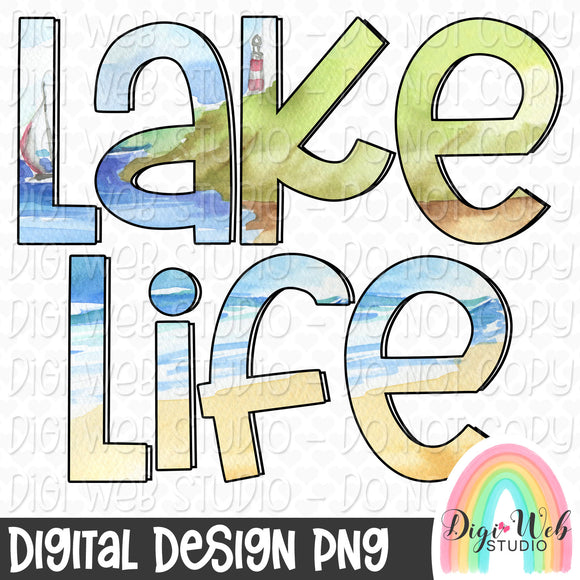 Lake Life - Digital Sublimation Printable
