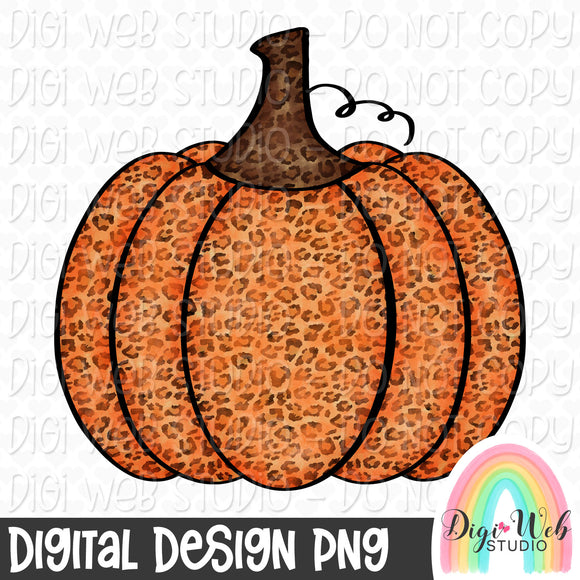 Leopard Print Pumpkin - Fall Digital Sublimation Printable