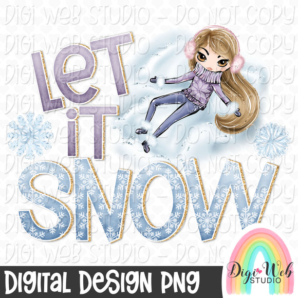 Let It Snow - Digital Sublimation Printable