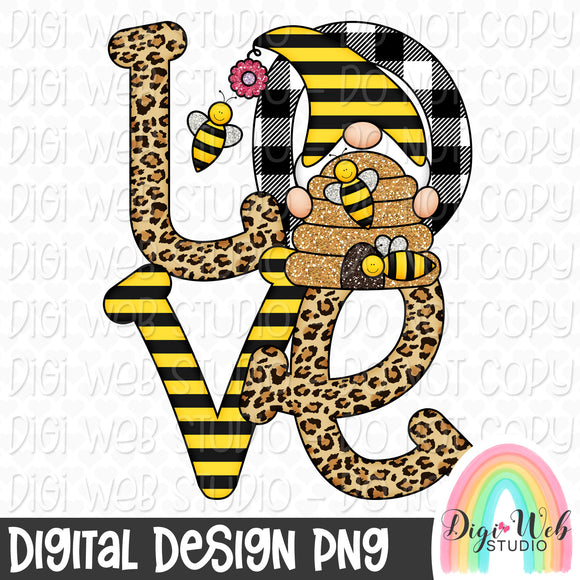 Love Bees Gnome - Digital Sublimation Printable