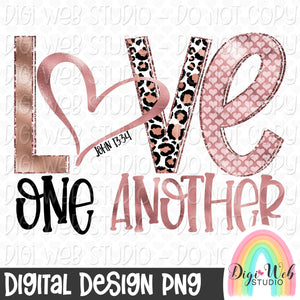 Love One Another 2 - Digital Sublimation Printable