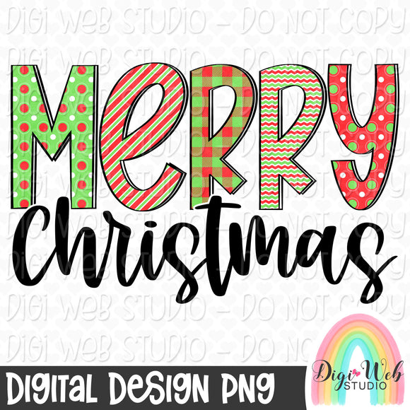 Merry Christmas - Digital Sublimation Printable