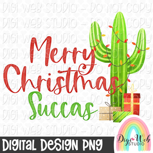 Merry Christmas Succas - Digital Sublimation Printable