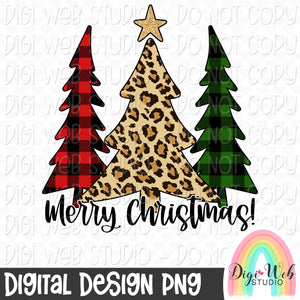 Merry Christmas Trees - Digital Sublimation Printable