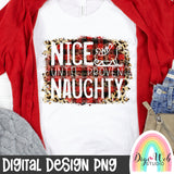Nice Until Proven Naughty - Digital Sublimation Printable