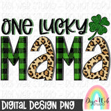 One Lucky Mama - Digital Sublimation Printable
