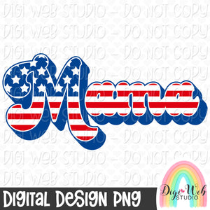 Patriotic Mama - Digital Sublimation Printable