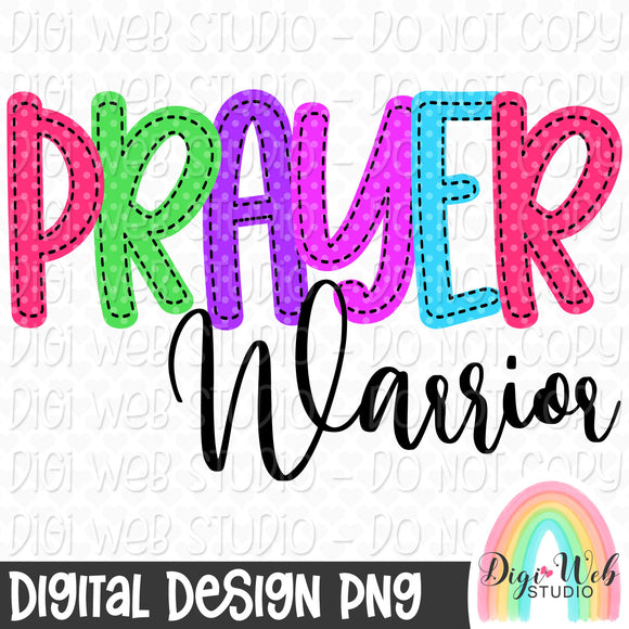 Prayer Warrior - Digital Sublimation Printable