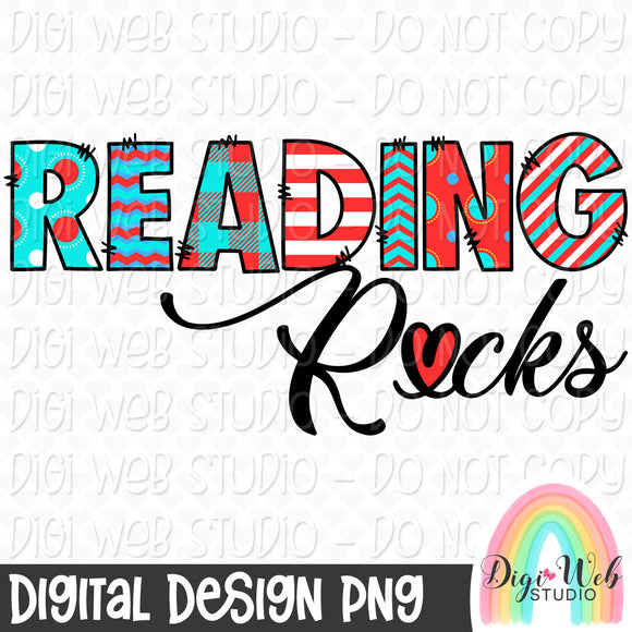 Reading Rocks 1 - Digital Sublimation Printable