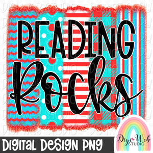 Reading Rocks 2 - Digital Sublimation Printable