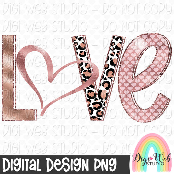 Rose Gold Love - Digital Sublimation Printable