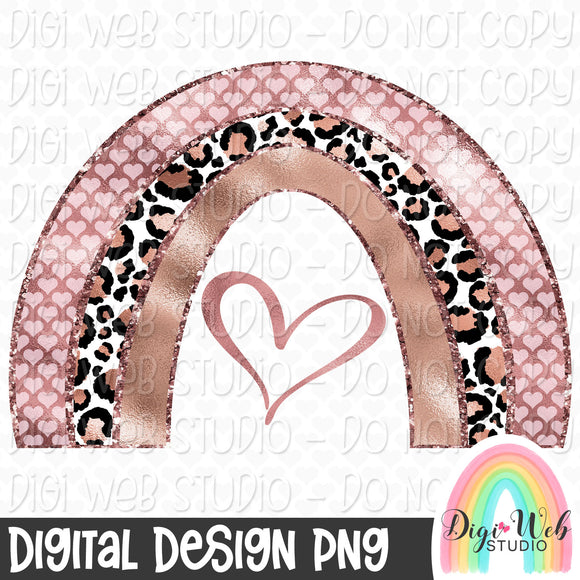 Rose Gold Rainbow - Digital Sublimation Printable