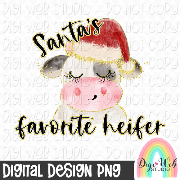 Santa's Favorite Heifer - Digital Sublimation Printable