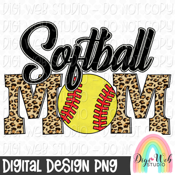 Softball Mom - Digital Sublimation Printable