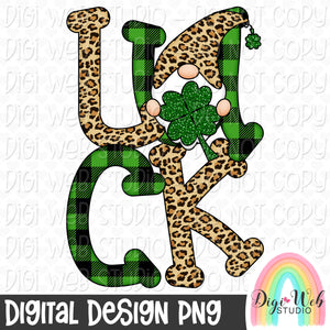 St. Patrick's Day Luck Gnome - Digital Sublimation Printable