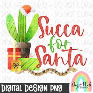 Succa For Santa - Digital Sublimation Printable