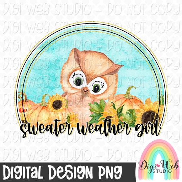 Sweater Weather Girl - Digital Sublimation Printable