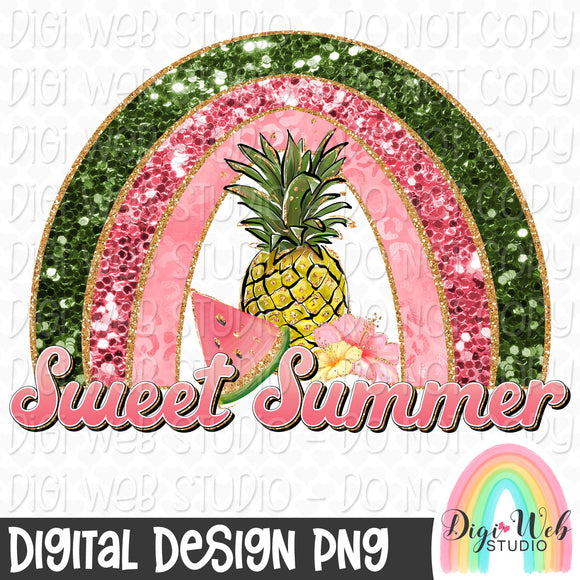 Sweet Summer Rainbow - Digital Sublimation Printable
