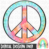 Tie Dye Peace Sign - Digital Sublimation Printable