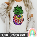 Tie Dye Pineapple - Digital Sublimation Printable