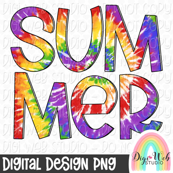 Tie Dye Summer - Digital Sublimation Printable
