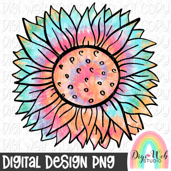 Tie Dye Sunflower - Digital Sublimation Printable